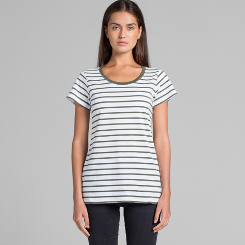 Ascolour Wo's Loop Stripe Tee - 4023 Front