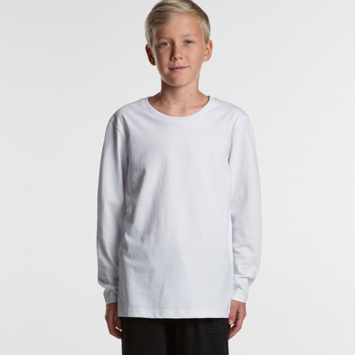 Ascolour Youth Long Sleeve Tee - 3008 Front
