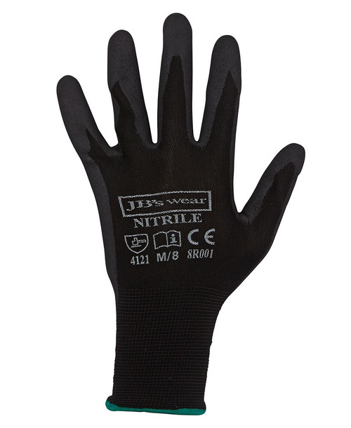 BLACK NITRILE BREATHABLE GLOVE (12 PACK)