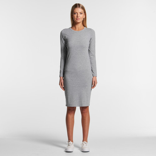 AScolour Wo's Mika Organic L/s Dress - 4033 Front