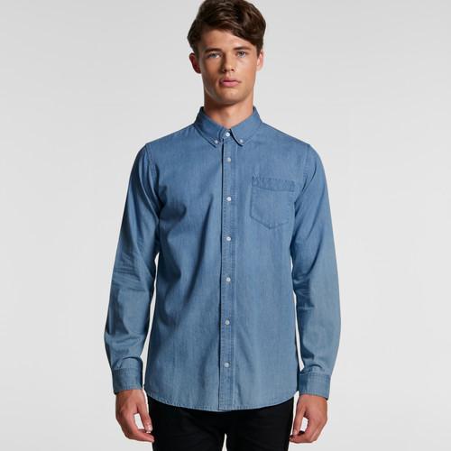 Ascolour Mens Blue Denim Shirt - 5409