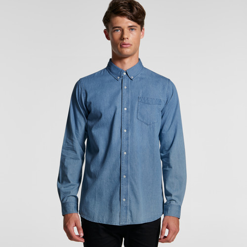 Ascolour Mens Blue Denim Shirt - 5409