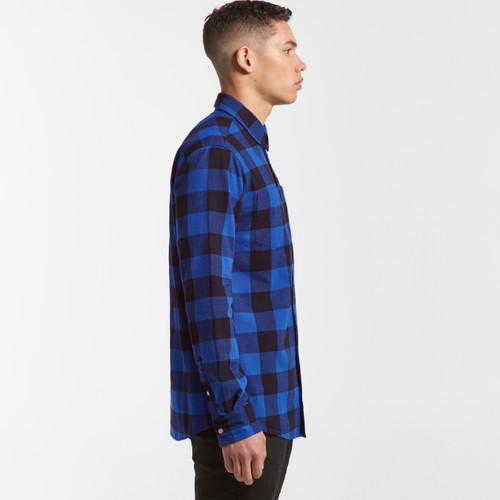 Ascolour Mens Check Shirt - 5417 Side