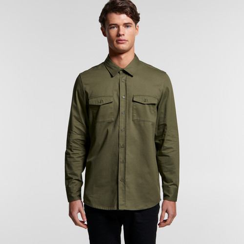 Ascolour Mens Military Shirt - 5412 Front