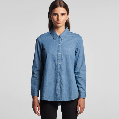 Ascolour Wo's Blue Denim Shirt - 4042