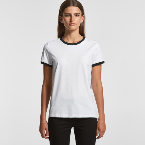 Ascolour Wo's Ringer Tee - 4053 Front