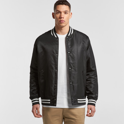 Ascolour Mens College Bomber - 5510 Front