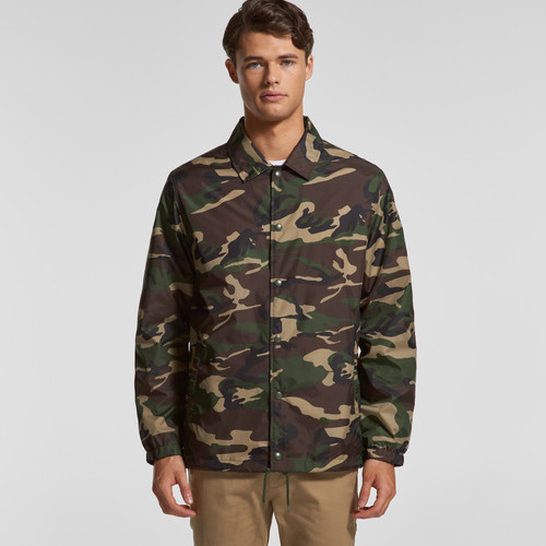 Ascolour Mens Coach Camo Jacket - 5520C Front