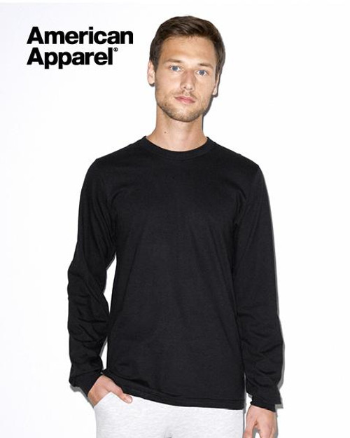 American Apparel Cotton Long Sleeve T-shirt  Front