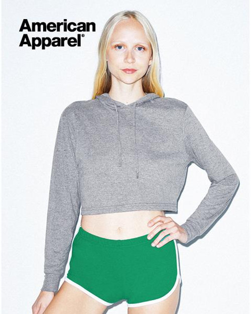 American Apparel Womens Tri-Blend Cropped Hoodie (RSATR3353W) Front