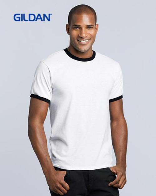 Gildan Dryblend Ringer T-shirt (8600) Front