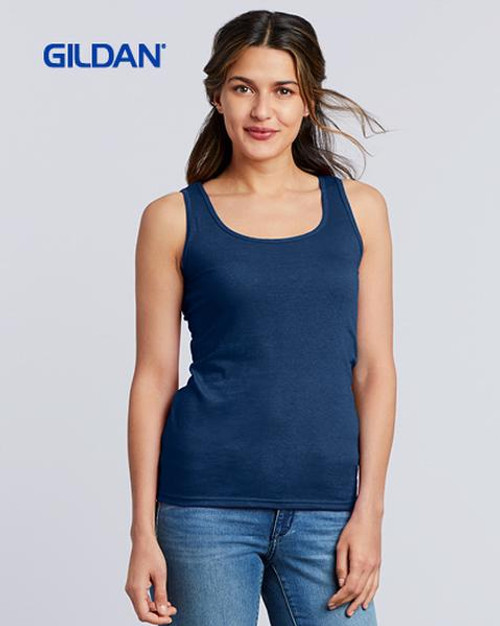 Gildan Ladies Softstyle Tank Top (64200L) Front