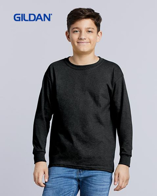 Gildan Youth Ultra Cotton Long Sleeve T-shirt (2400B) Front