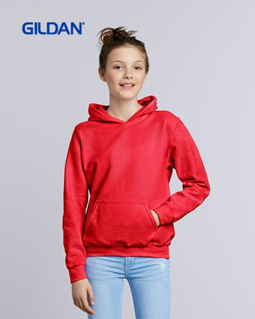 Gildan Youth Hooded Sweatshirt (18500B) Front