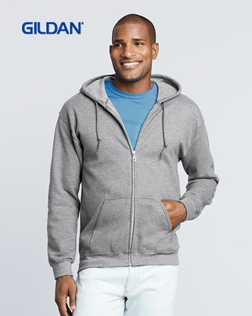 Gildan Zip Hooded Sweatshirt (18600) - Front