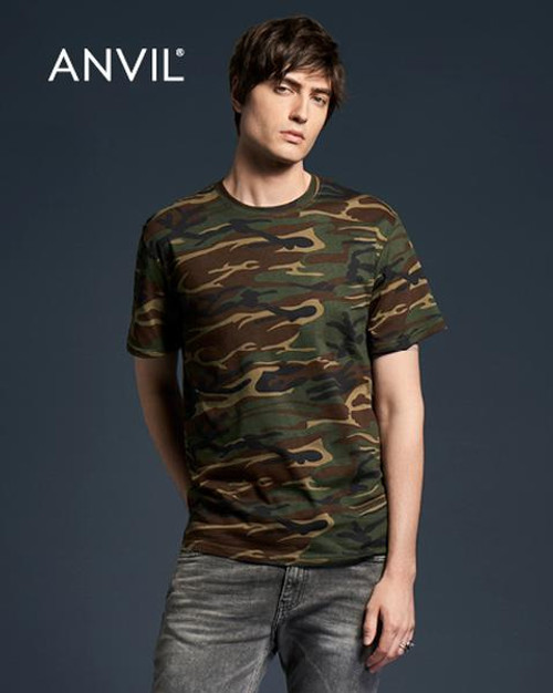 Anvil Camouflage Short Sleeve T-shirt (939) Front