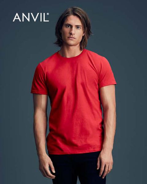 Anvil Black Short Sleeve T-shirt (790)