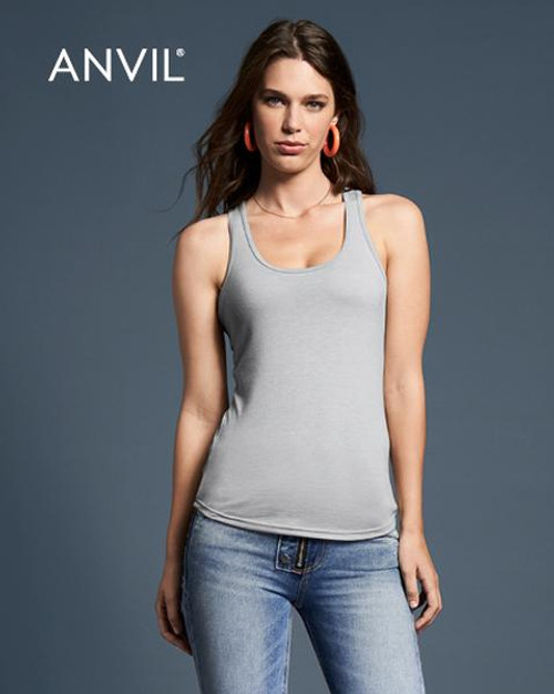 Anvil Womens Tri-blend Racerback Tank (6751L) Front