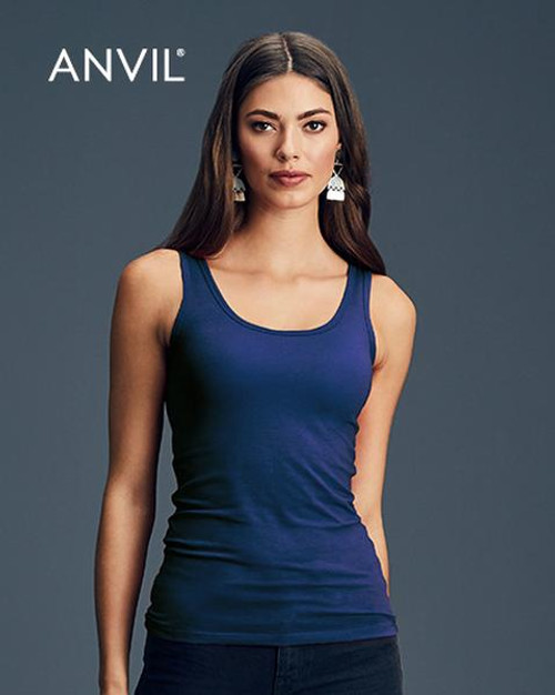 Anvil Womens Stretch Tank (2420L) Front