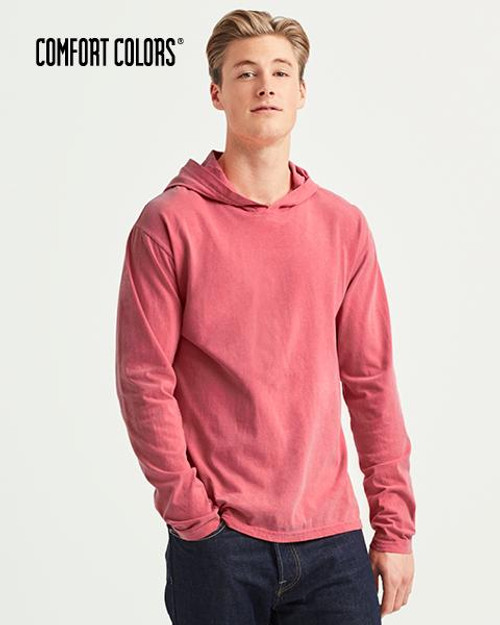 Comfort Colors Long Sleeve Hooded T-shirt (4900) Front