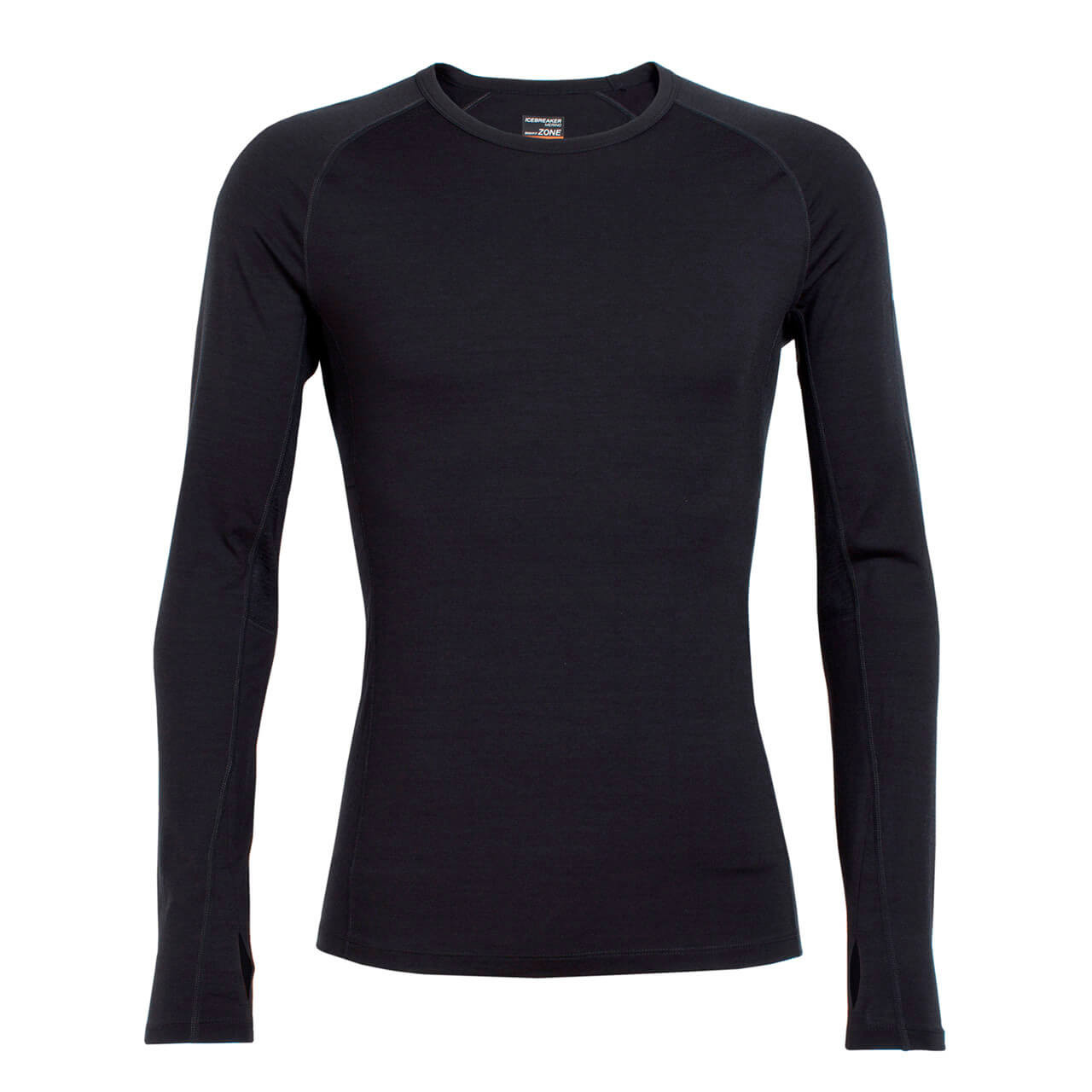 682dbab54 Icebreaker Men's Zone Long Sleeve Crewe - Black
