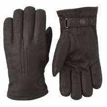 Deerskin Lambsfur Glove - Dark Brown