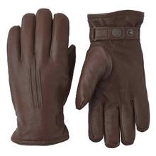 Deerskin Lambsfur Glove - Chocolate