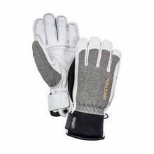 Hestra Gore Tex Short Glove - Light Grey/Off White