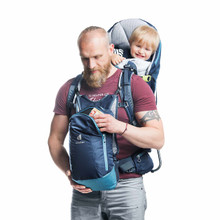 Daypack straps to chest for easy access