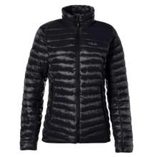 Women's Microlight Down Jacket - Black/Seaglass
