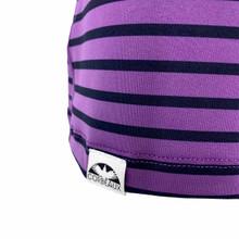 Corbeaux Women's Stripe Crew - Hem Detail