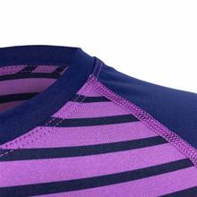 Corbeaux Women's Stripe Crew - Collar Detail