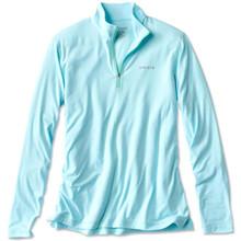 Orvis OutSmart Zipneck Tech Shirt - Coastal Blue