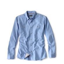 Orvis OutSmart Tech Chambray Long Sleeve Shirt - Medium Blue