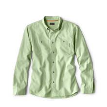 Orvis OutSmart Tech Chambray Long Sleeve Shirt - Cactus