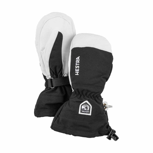 Army Leather Heli Ski Jr Mitt - Black