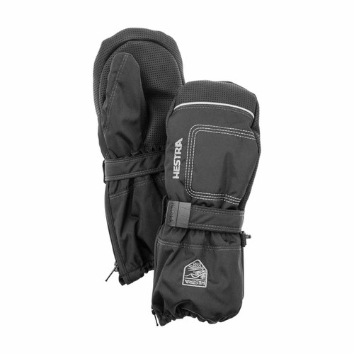 Hestra Baby Zip Long Mitt - Black/Black
