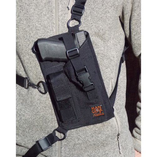 Man Gear Alaska MGP1 Large Auto Chest Holster w/ Mag Pouch