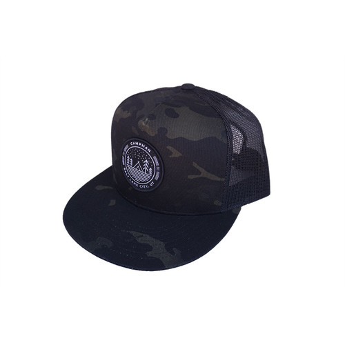 Campman Snapback Hat - Circle Patch/Camo