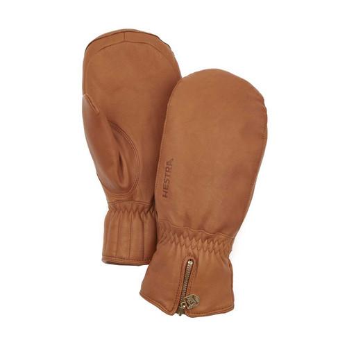 Hestra Leather Swisswool Classic Mitt - Cork