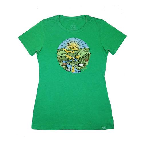 Wild Tribute Prismatic Hills Women's T-Shirt