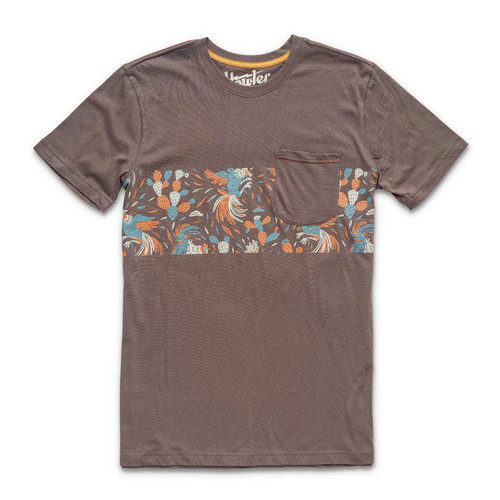 Gallos Stripe Pocket Tee - Espresso