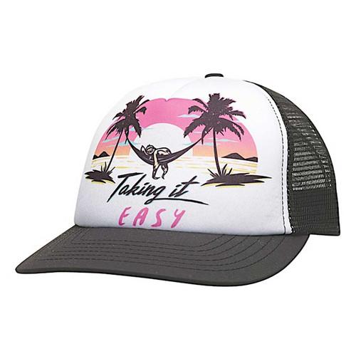Take It Easy Snapback Hat - Black