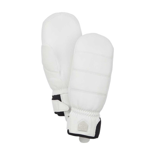 Hestra Alpine Leather Primaloft Mitt - White