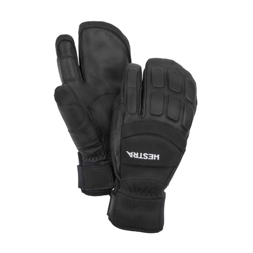 Hestra Vertical Cut Czone 3 Finger - Black/Black