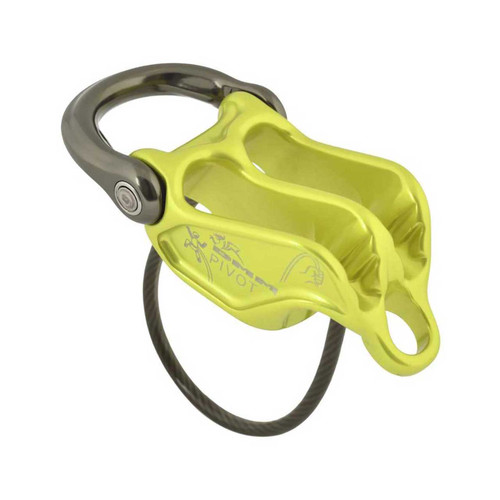 Pivot Belay Device - Lime