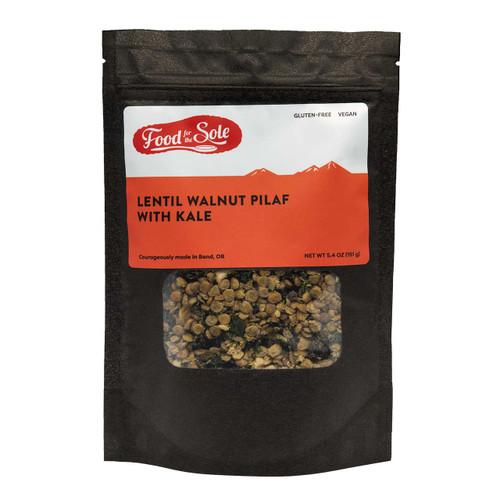 Lentil Walnut Pilaf with Kale