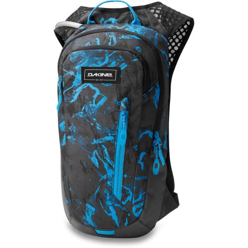Shuttle 6L Hydration Backpack - Cyan Scribble