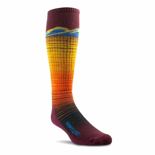 Hailey Ultralight Ski Socks - Plum