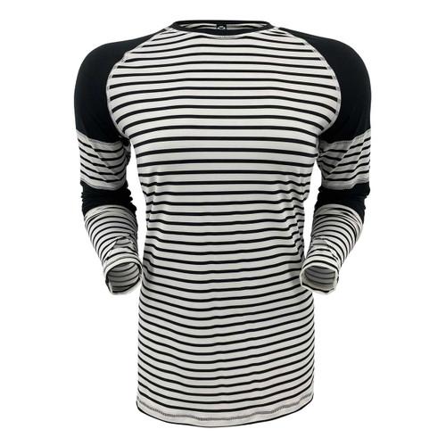 Corbeaux Women's Stripe Crew - White Stripe